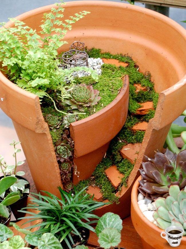 cool-broken-pot-fixed-garden