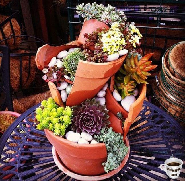 cool-broken-pot-flowers-garden